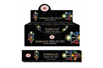 Incense Stick Kabbalah Bulk 12 Packets 144 Sticks Premium Masala Green Tree