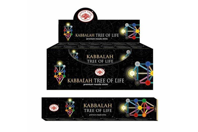 Incense Stick Kabbalah Bulk 12 Packets 144 Sticks Premium Masala Green Tree
