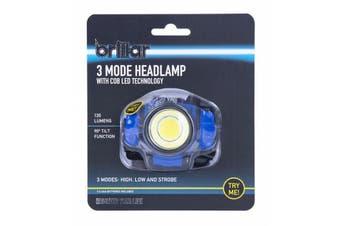 LED Headlamp Head Torch Light Flashlight Rechargeable Lamp 120 Lumens BLUE