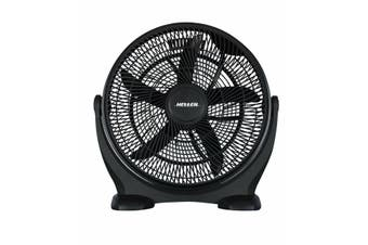 Heller Black Floor Desk Fan High Velocity Air Cooling Circulator 50cm