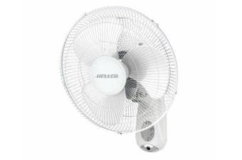 Heller Wall Mount Fan 40cm w/ Remote Control 3 Speed Oscillating Tilt Adjustable