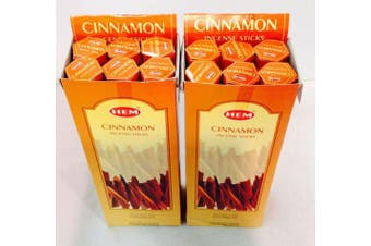 Cinnamon 240 Incense Sticks HEM BRAND India Relaxation Fragrance Odours