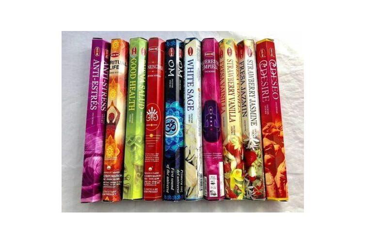 BULK 400 Incense Sticks HEM 10 Various Scents India Relaxation Fragrance Odours