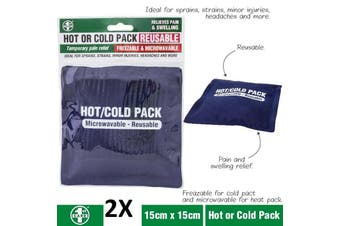 2x Hot & Cold Pack - Reusable Microwave Heat Ice Gel Pack Pain Relief First Aid