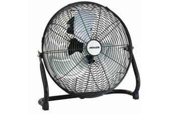 HELLER 40cm High Velocity Fan Black Floor/Desk Circulator Cooling