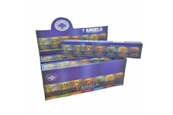 Bulk Incense Stick 7 Angels 12 Packets 144 Sticks Premium Masala Green Tree