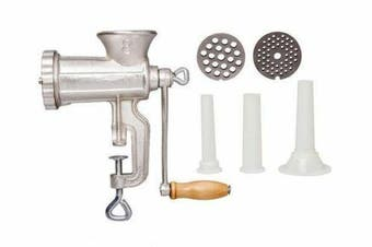 Manual Cast Iron No. 8 Meat Grinder Mincer Sauce Maker Sausage Filler