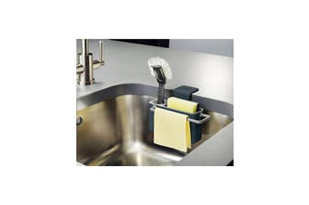 Joseph Joseph in Sink Aid Self Draining Caddy Grey Kitchen Sponges Brush Soap