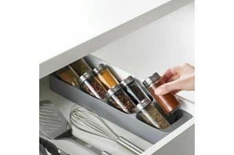 Joseph Joseph DrawerStore Compact Spice Jar Organiser  Kitchen Utensil GREY