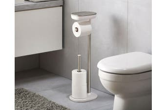 Joseph Joseph EasyStore Standing Toilet Paper Holder Stainless Steel Dual Shelf