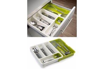 Green Joseph Expandable Cutlery Tray Kitchen Organizer Utensil Drawer Insert