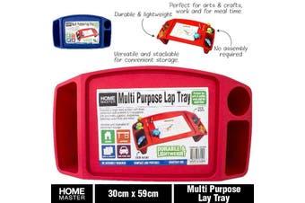 Multi Purpose Lap Tray Kids Stackable Versatile Arts Craft Multipurpose Red