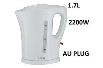 Tiffany Electric Cordless Kettle Kitchen Hot Water Jug/Boiler 1.7L White