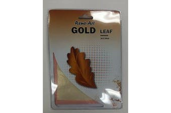 25 Sheets Gold/Silver/Copper Leaf Foil Paper Imitation Gilding Art Craft 14x14cm - Gold