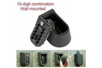 Wall Mounted Weather Resistant 10 Digit Combination Lock Key Safe Box Storage