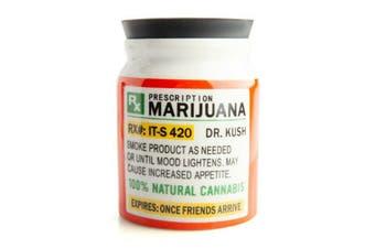 Herb/Weed Storage Jar Large Prescription Marijuana Stash It!