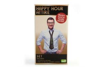 Tie Bottle Holder/Bottle Opener Glasses  Happy Hour Attire
