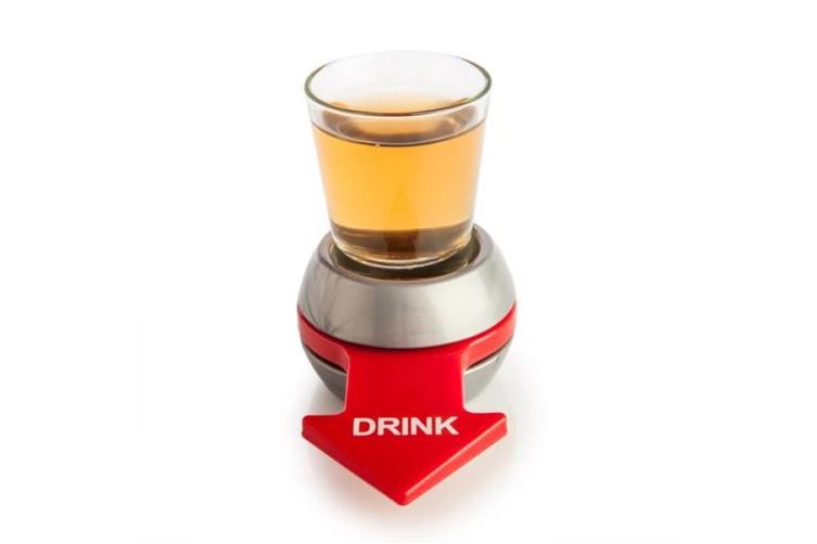 Spin The Shot Drinking Game Roulette Glass Spinner Party Gift