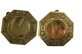 Metal Vintage Bagua Bagwa Convex Concave Good Luck Blessing Home Hang Combo