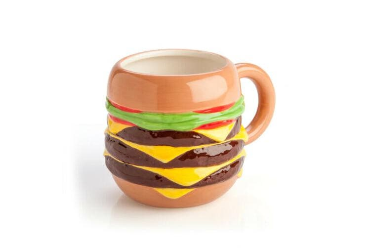 Burger Coffee Mug Novelty Burgers Coffee Lovers Mug Tea Cup Cuppa