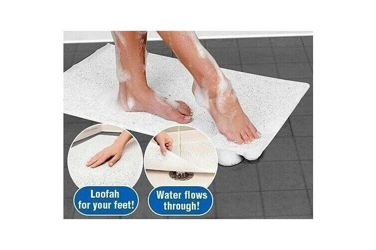 2X Non Slip Shower Bathroom Bath Aqua Rug Mat Carpet Water Drains Doormat