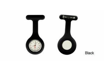 Silicone Nurse Brooch Tunic Fob Watch Nursing Nurses Pendant Pocket Watch Black