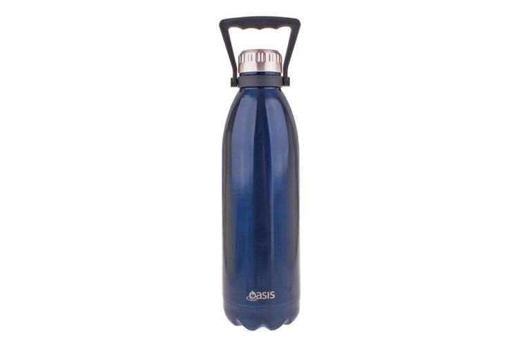 Oasis Double Walled Vacuum Insulated Stainless Steel Water Drinks Bottle Blue