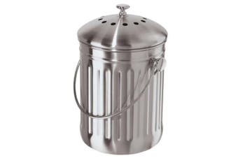 Stainless Steel Counter Top Kitchen Scraps Garbage Compost Bucket Insert 3.8L