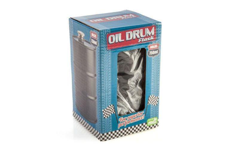 Oil Drum Matte Black Flask Portable Purse Travel Set Alcohol Mens Gift
