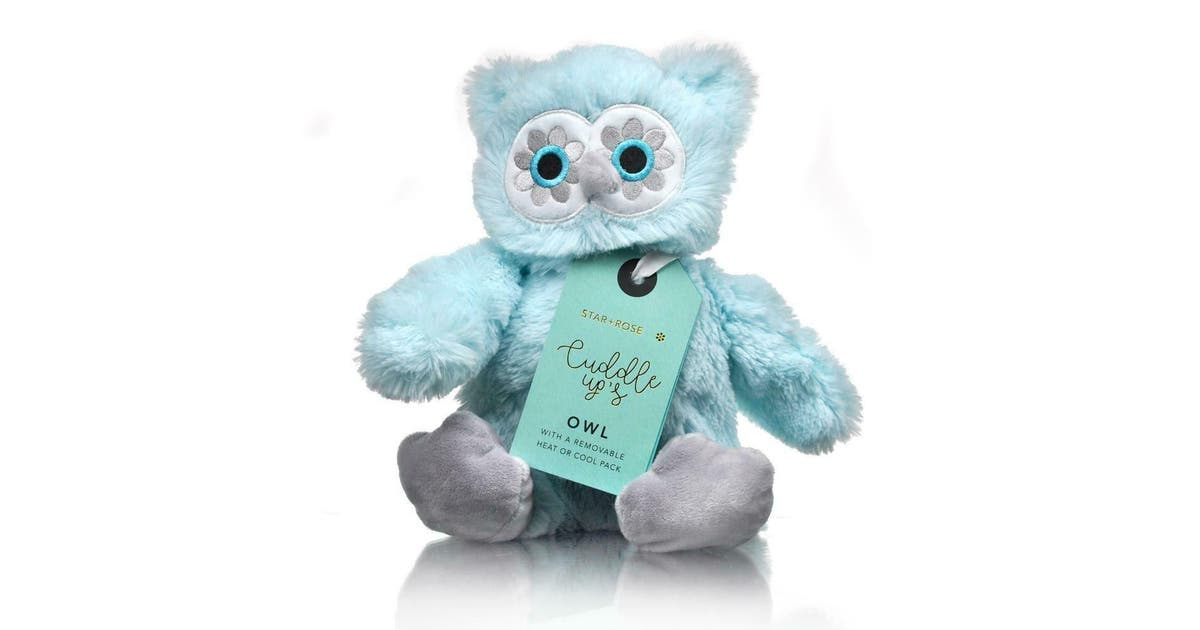 Owl Cuddle Up Hot Cold Pack Reusable Removable Tourmaline Beads Pain Relief Kogan Com