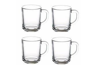 4x Pasabahce Handle Mug Coffe/Latte/Cappuccino/Tea Cup High Quality 250ml