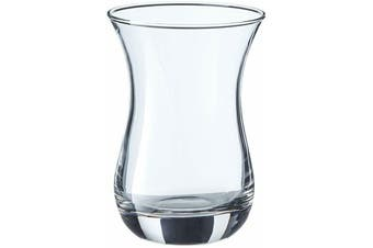 Set of 6 Pasabahce Aida Plain Tea/Coffee Glass Tea Cup 135ml