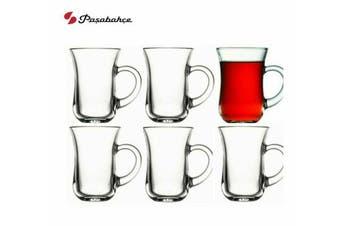 Pasabahce Keyif Sodalime Glass Handle Tea Mug Cup High Quality 140ml