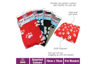Pet Dog Cat Blanket Soft Cosy Fleece Warm Blanket Rug Mat 70 x 70cm