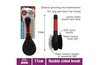 Pet Grooming Brush Double Side Dog Cat Long & Short Hair Fur Shedding Tool