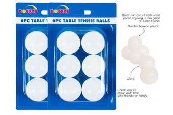 12 pieces White Table Tennis Balls Ping Pong Durable Bounce Plastic Game