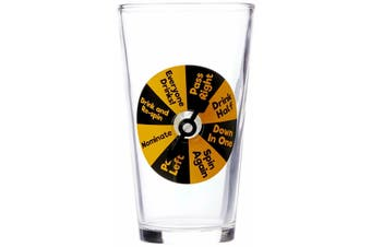 Beer Glass Party Pint Drinking Game Glasses Spin Win Funny Gift Party Bucks - 1 Glass