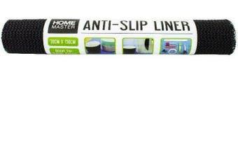 2x Anti Non Slip Mat Grip Roll Matting Cabinet Liner Kitchen Drawer 30x150cm - BLACK