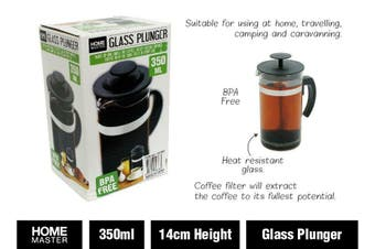 Glass Plunger French Press Coffee Tea Maker Filter 350ml