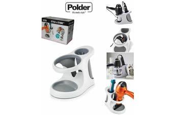 Polder Style And Store Hairdryer Straightener Storage Unit Caddy Bathroom
