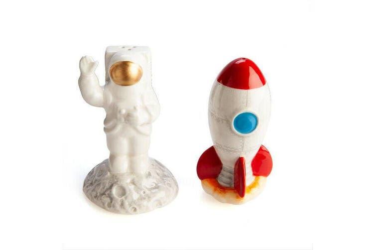 Rocket & Astronaut Tableware Gift Home Kitchenware Salt & Pepper Set