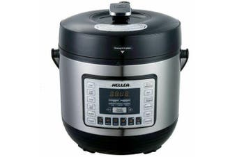 Heller 6L Electric Digital Slow Pressure Cooker Stainless Steel 1000W