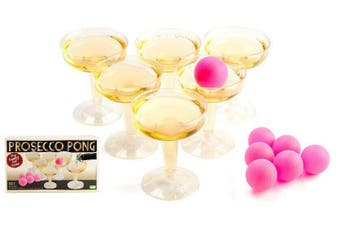 Prosecco Sparkling Wine Pong Drinking Game Set Bubbly Party Fun Drink
