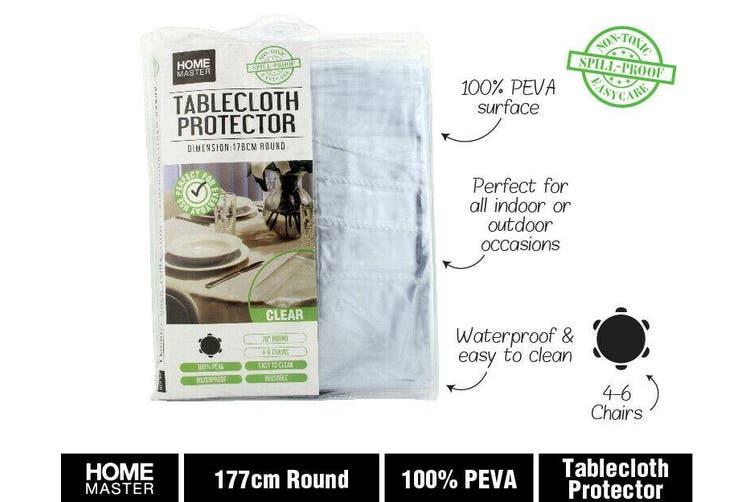 Clear Plastic Pvc Table Cloth Protector Round Cover Outdoors Camping Picnic Matt Blatt