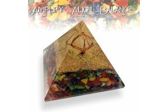 Merkabah Orgonite Pyramid Clear Quartz Chakra  Healing Crystal