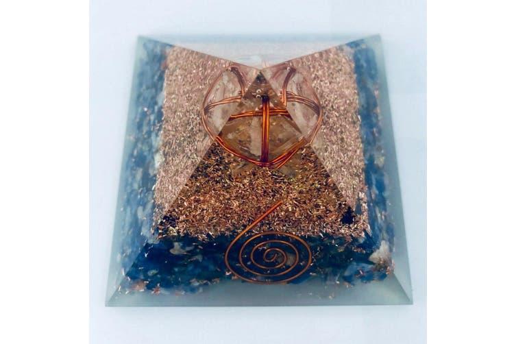 Merkabah Orgonite Pyramid Sodalite Metatron Cube Sacred Geometry Set