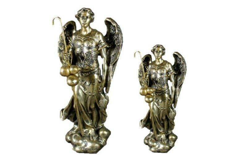 Archangel Raphael Statue Angel Figurine Physical and Emotional Healing Tin - Raphael 20cm