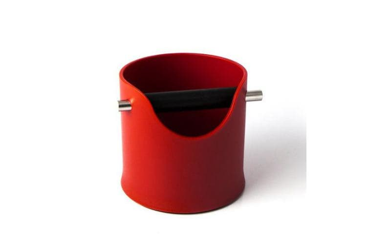 Red Coffee Knock Bin CREMA PRO Espresso Grinds Tamper Waste Box 110m
