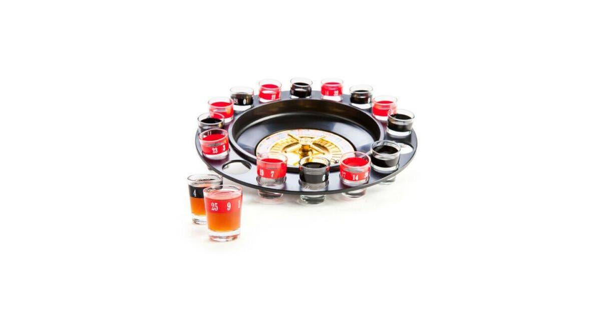 Shot Glass Roulette Spinning Wheel Casino Drinking Game Set Spinner Table Party Matt Blatt