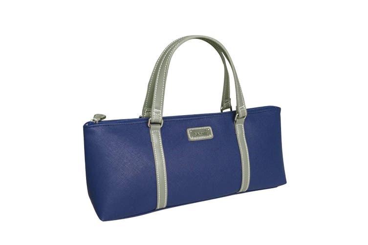 Insulated Wine Bottle Purse BYO Cooler Carrier Bag Handbag Blue